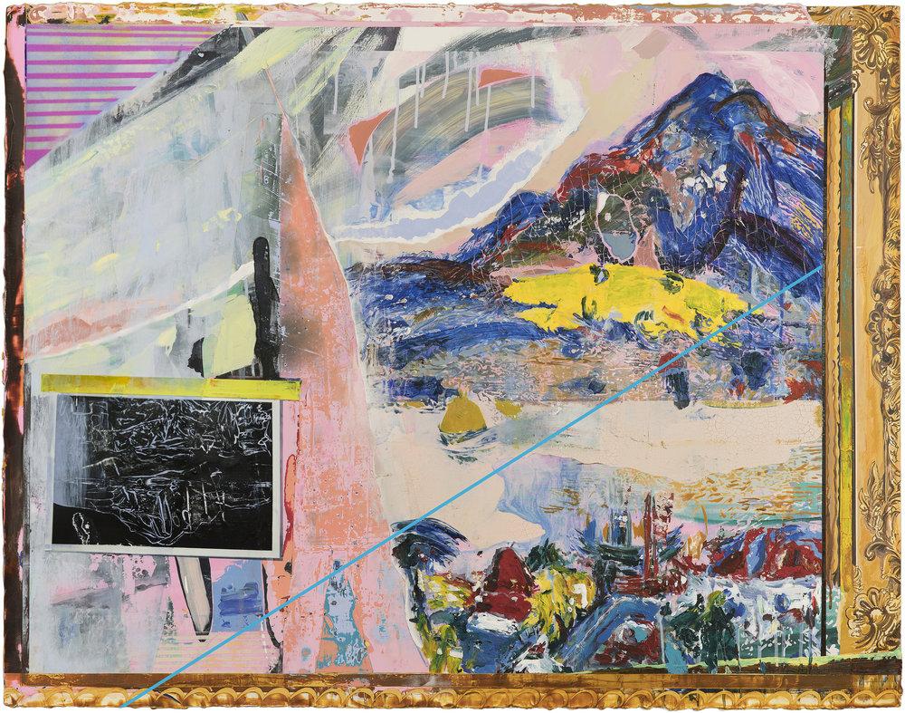 HSIEH MU-CHI  Tamkang and Guanyin Mountain 2016 acrylic on canvas 116 x 91 c
