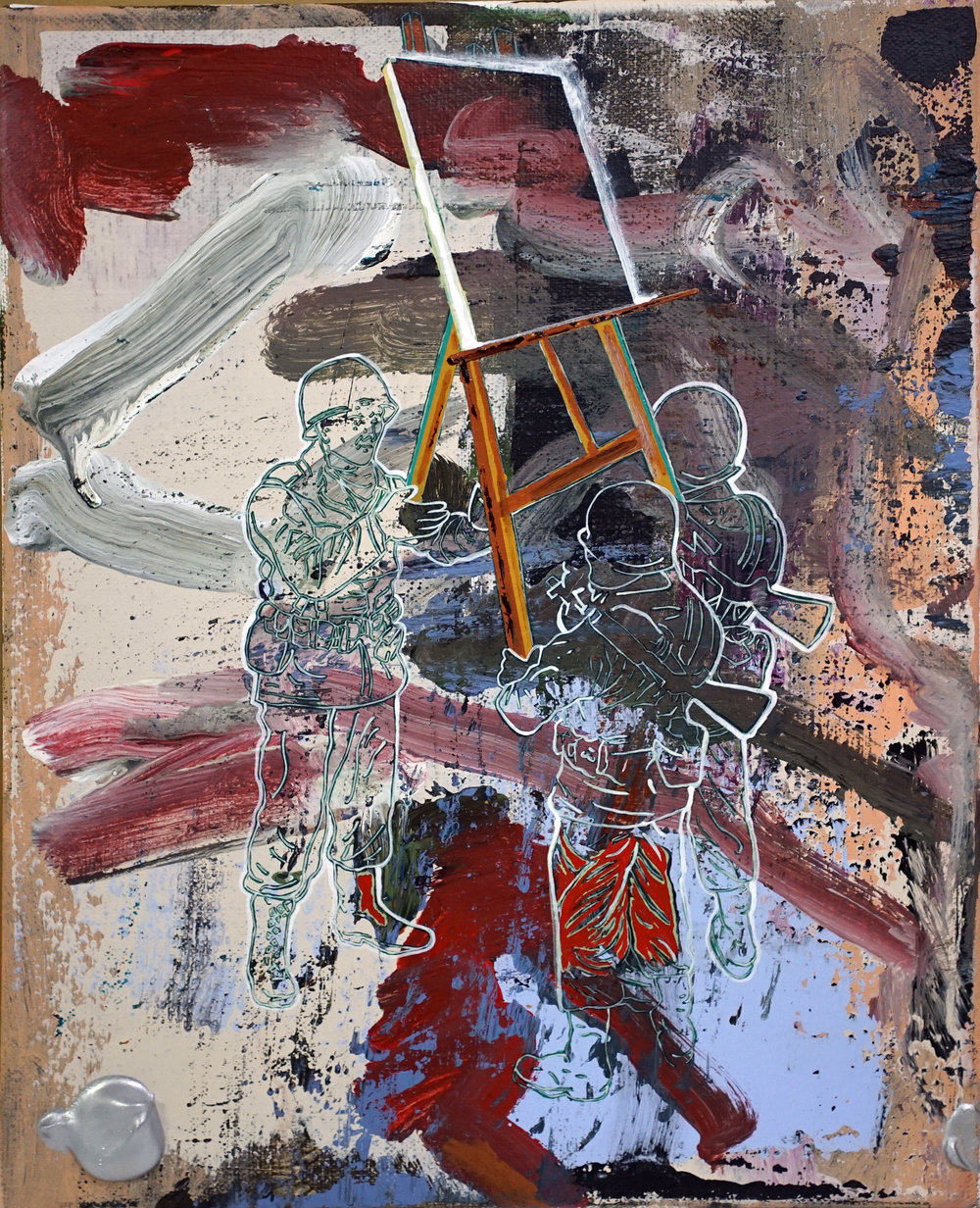 Hsieh Mu-Chi  Painting Act005 acrylic on canvas 41 x 31.5 cm