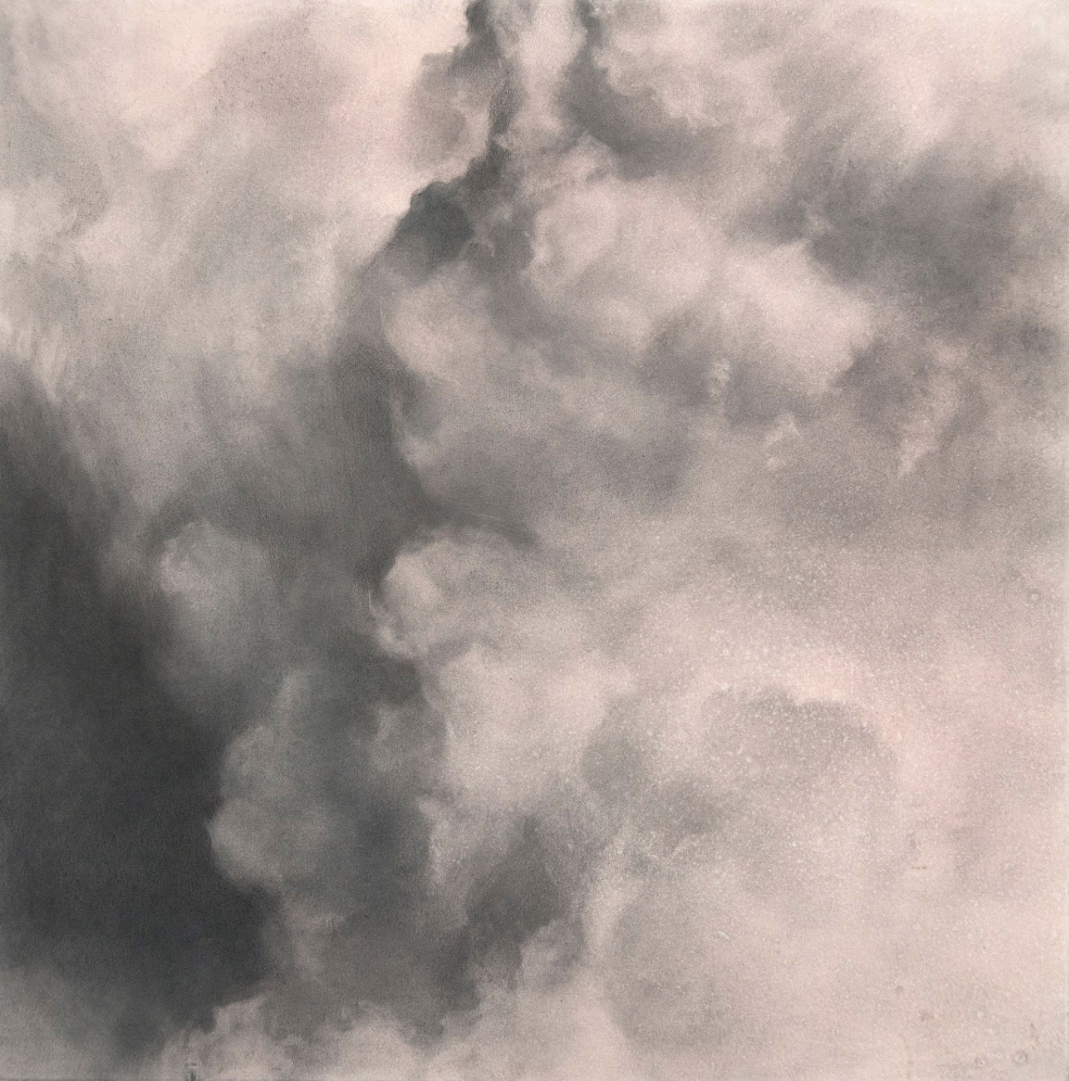 Volatilis II,  2015. Graphite on gouache-tinted paper. 10 x 10 inches.   Available