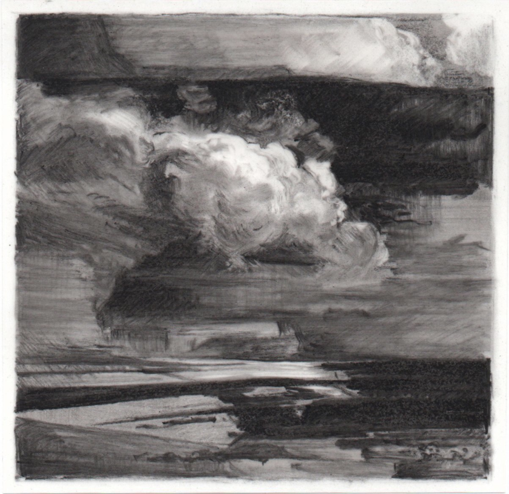 The Return , 2013. Charcoal on mylar. 3.75 x 3.75 inches.   Available