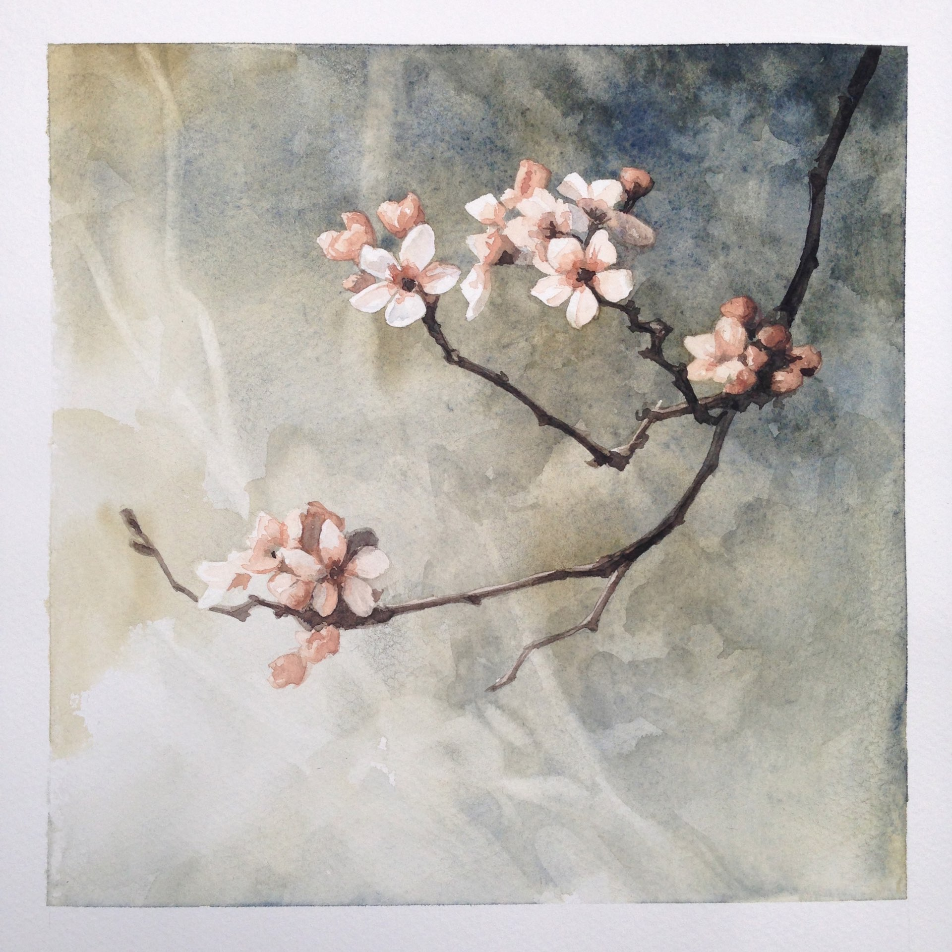 2014. Watercolor on paper. 7 x 7 inches. Private collection.