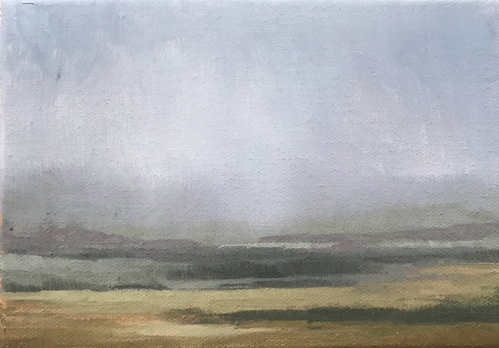 Landscape Study,  2016. 5 x 7 inches. oil on canvas.   Available