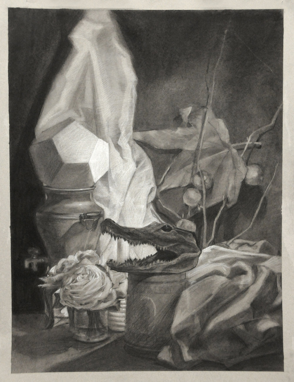 LinHui Ding, Drawing 1 student.
