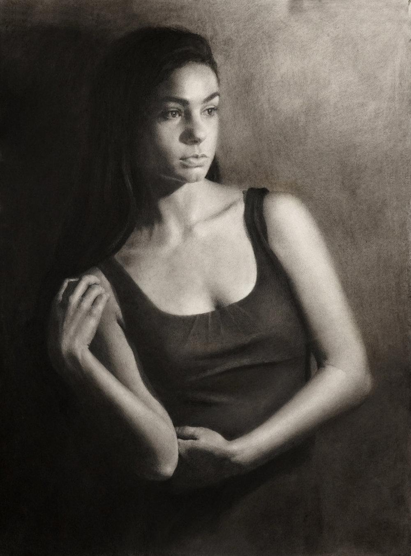 Sophia LaFrance, Life Drawing 1 student.