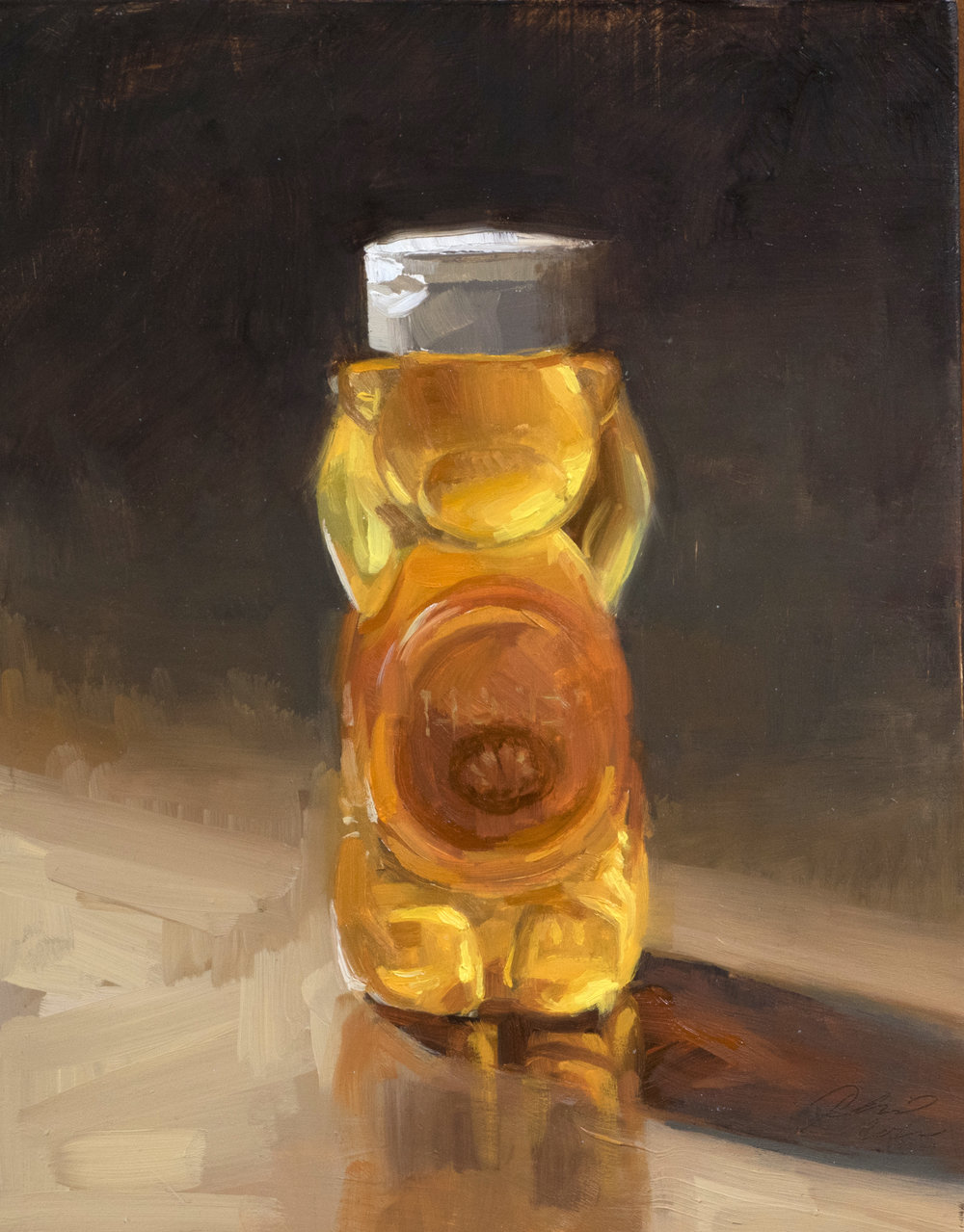 Honey Bear . 8 x 6 inches. oil on panel.  $250