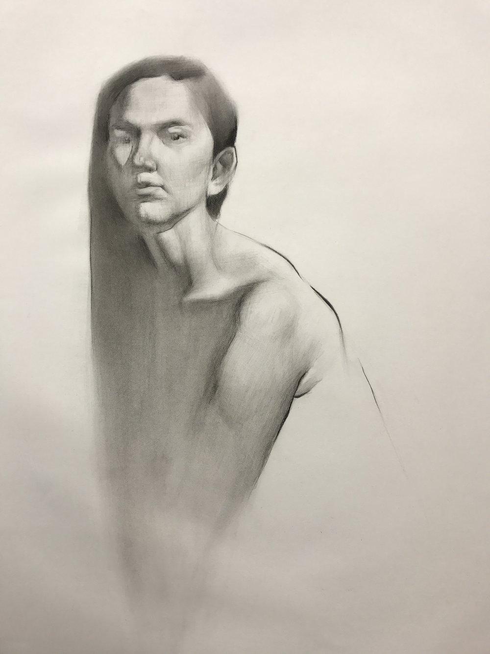 Ana Sanchez, Experimental Drawing student.