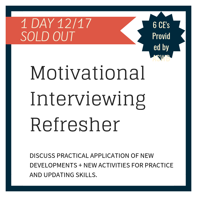 The training will update your skills to reflect what is current in Motivational Interviewing. This includes the latest updates in curriculum to introductory and advanced MI training series and will reflect what is current in MI, including: the Motivational Interviewing Competency Assessment (MICA), how the MICA ties coding and coaching together, and brief exposure to coding using this new tool. The training will also explore what motivates practitioners to become proficient at MI and how trainers foster that process.
