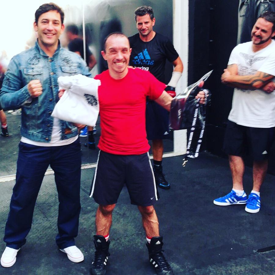 The first ever Total Boxer Summer Sweat Challenge winner, Scotty Valentine, 2015