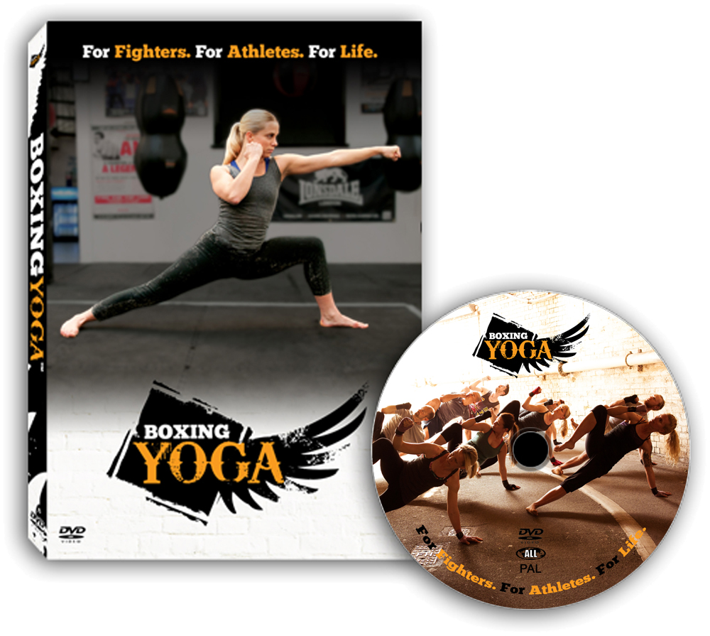 BoxingYoga Home Workout DVD. Not easy!
