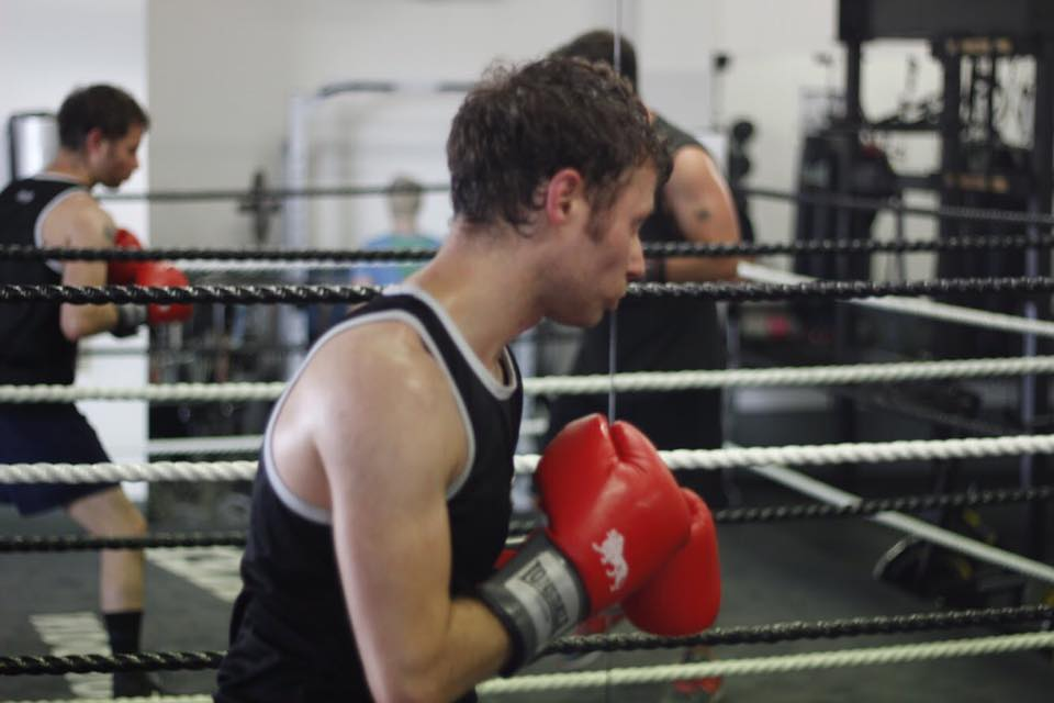 Robin sparring with Matt during one of his challenge sessions.