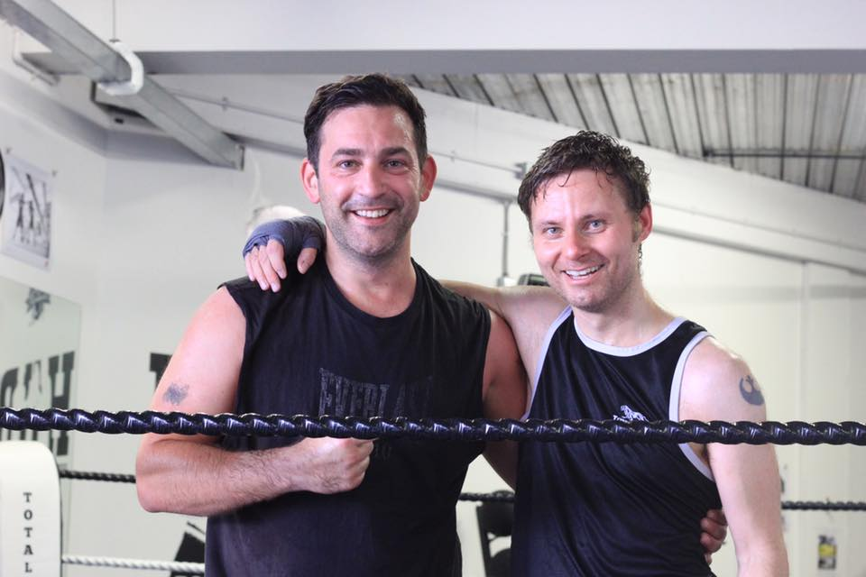 Robin with Matt after being the first to complete BOTH 10 in 10 challenges.