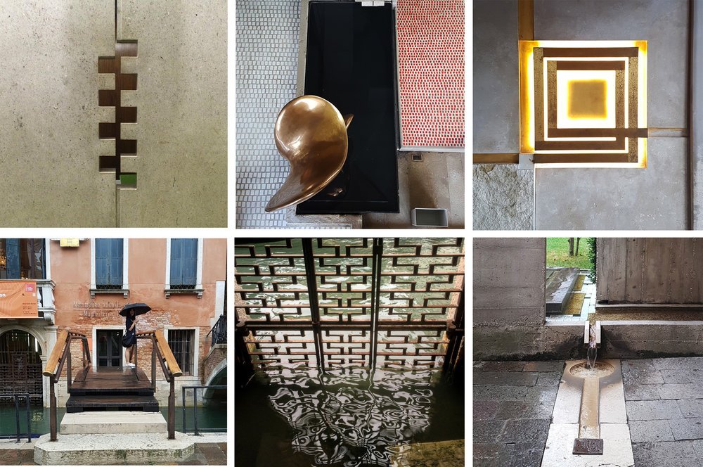 Details and textures at the Olivetti Museum (top row) and Pinacoteca Querini Stampalia (bottom row)
