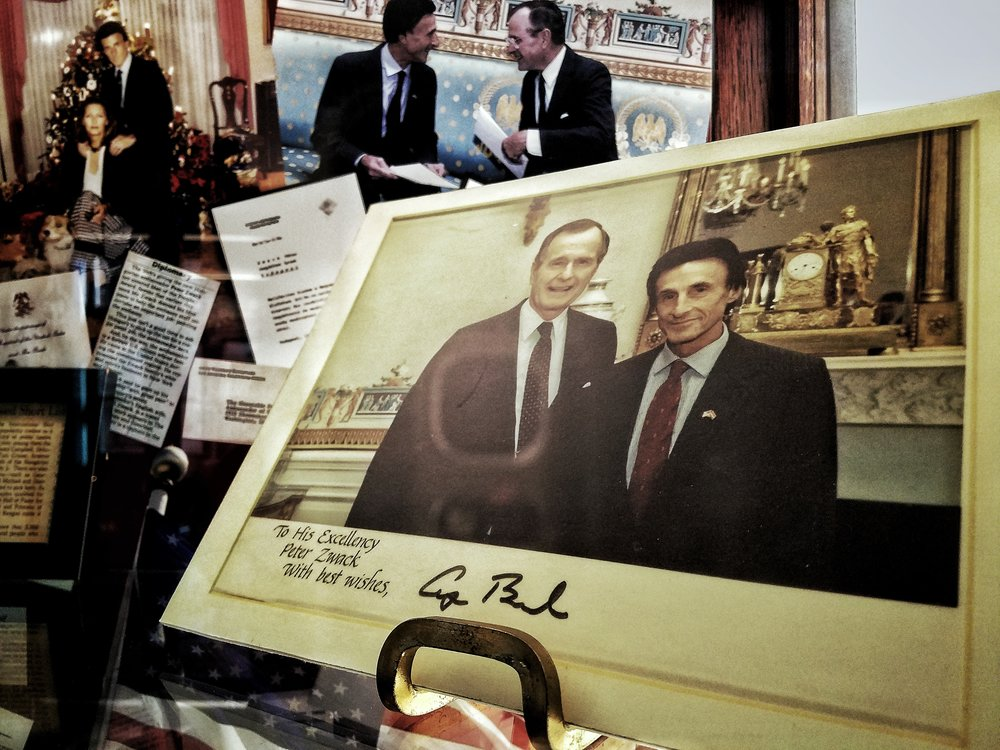 Peter Zwack with President George Bush.