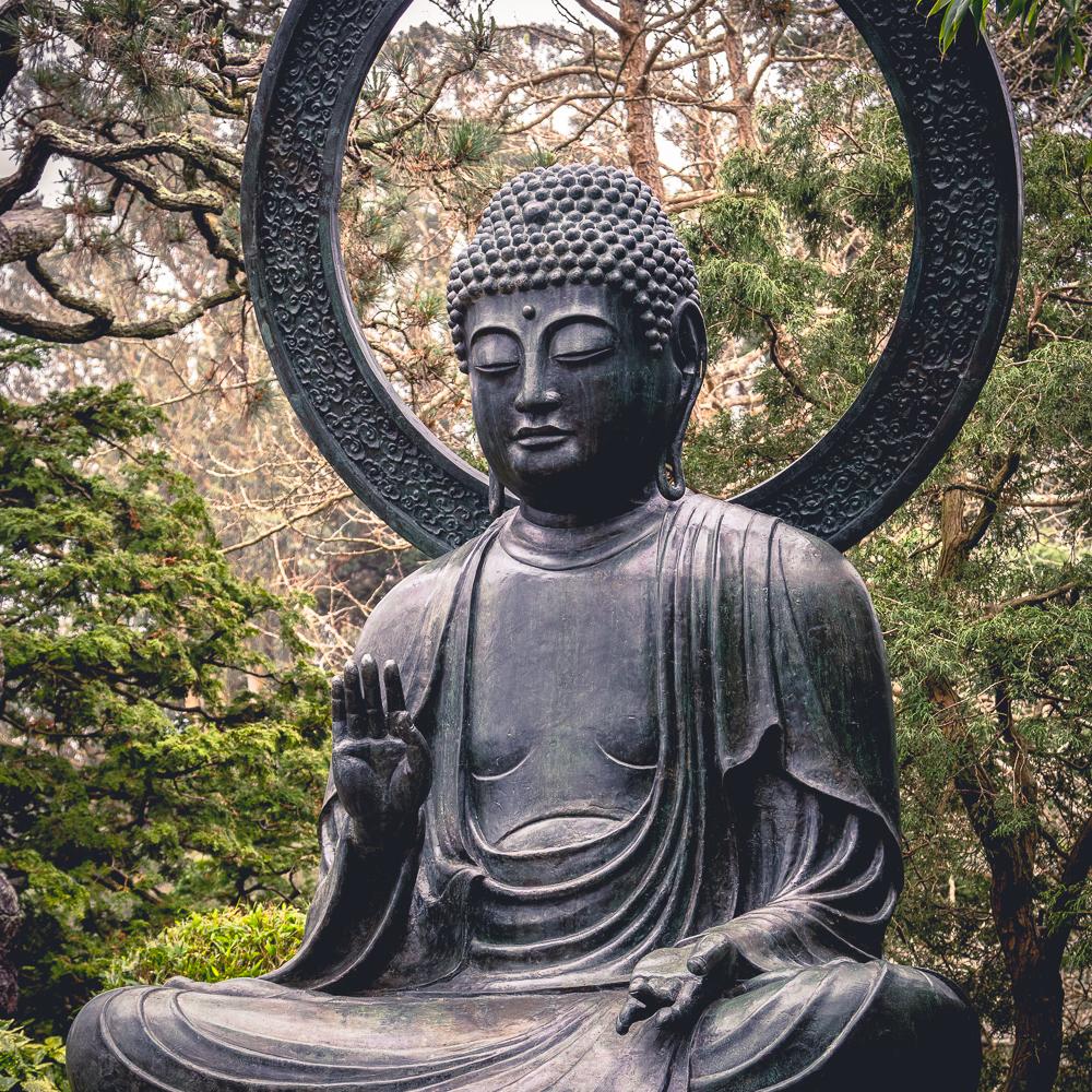 Buddah Statue.  Japanese Tea Gardens