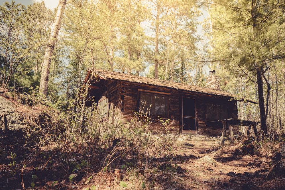 Sig Olson Cabin at Listening Point: Exterior