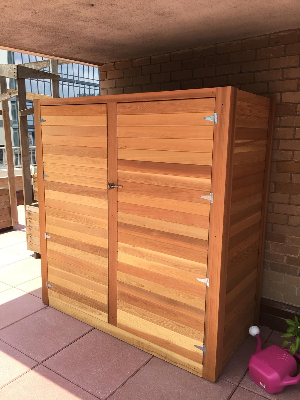Clear Cedar Storage Shed