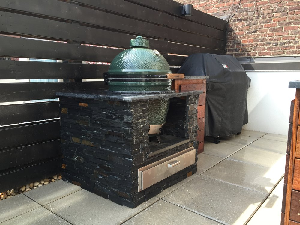 Atlantic Ave Brooklyn Custom Green Egg Enclosure.JPG