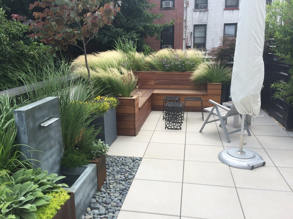 Atlantic Ave Brooklyn, NY-  Custom Ipe Bench and Planter