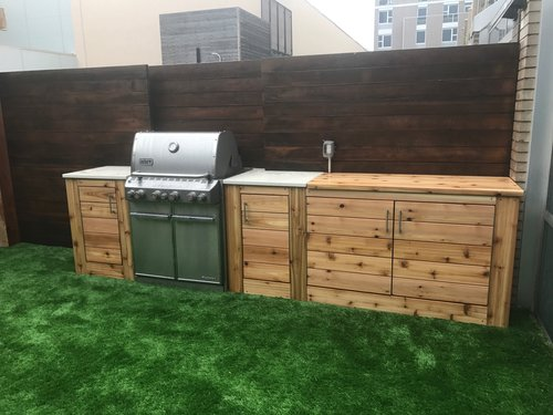 wood outdoor kitchen pallet knotty cedar outdoor kitchen kitchens dion city landscapes inc