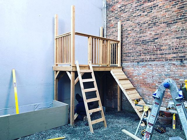 Happy Wednesday! In the works of building a custom cedar play set #dioncitylandscapes #dcloutdoorcontracting #landscape #landscapephotography #landscaping #woodworking #wood #cedar #playset #custom #luxury #luxurylifestyle #luxuryhomes #backyard #outdoors #outdoor #outdoordesign #woodworkers