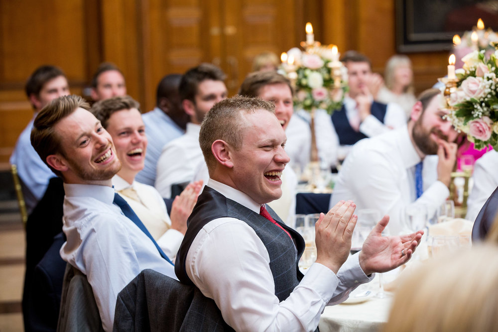 Candid Speech Reaction - The Inner Temple, London - Kent Wedding Photographer