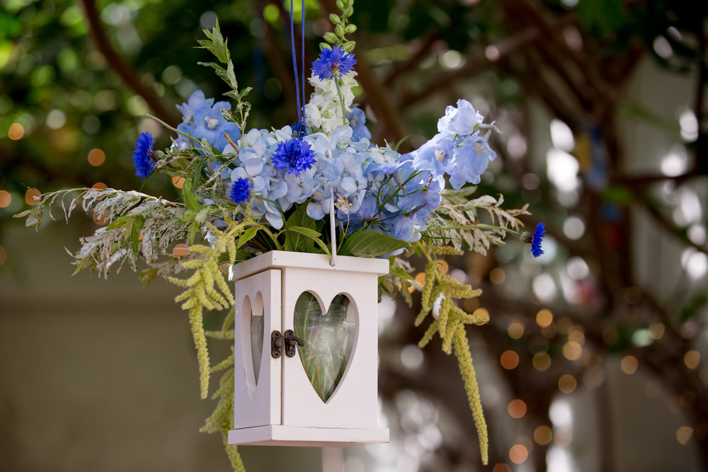 Beautiful Hanging Floral Display - The Secret Garden - Kent Wedding Photographer