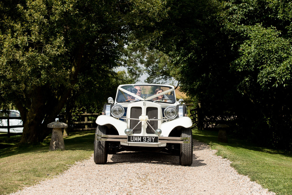 The Bride's Arrival - Solton Manor - Kent Wedding Photographer