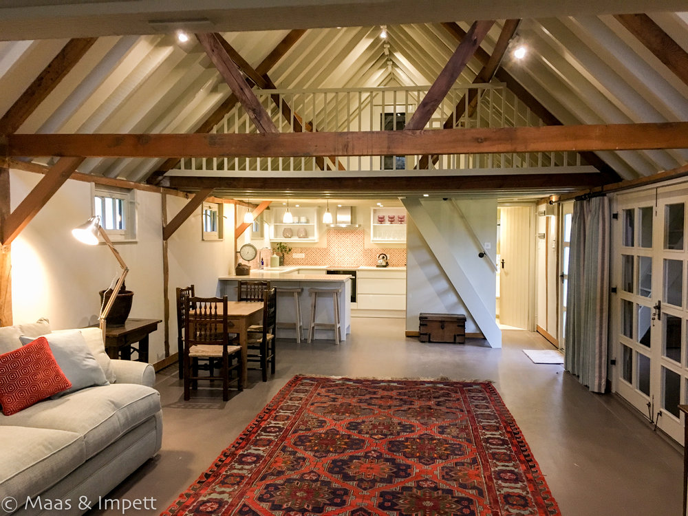 Lymington based Interior design company, Maas & Impett complete a stunning Barn Conversion in The New Forest, Hampshire.