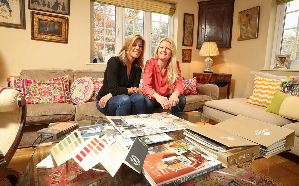 Hampshire interior designers Helena Impett and Suzy Maas.