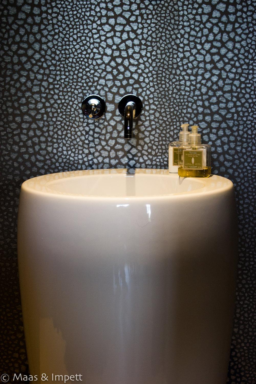 Washroom basin, interior design, Hampshire