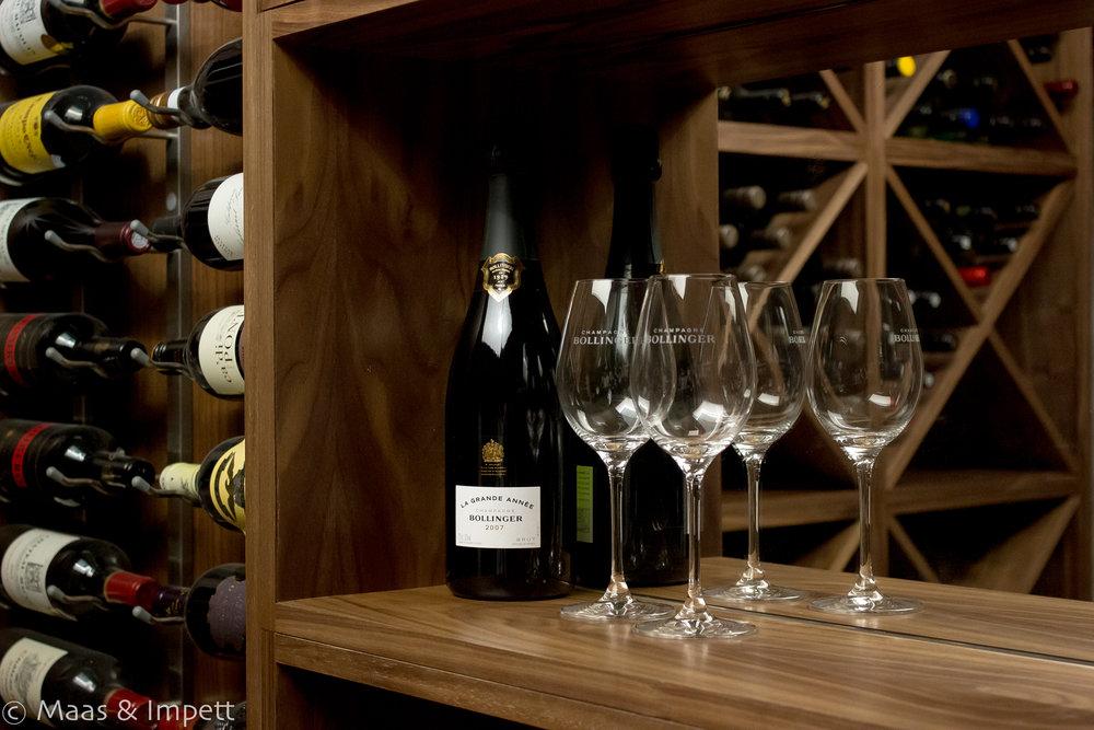 Wine Cellar, Bespoke carpentry arranged by Maas & Impett