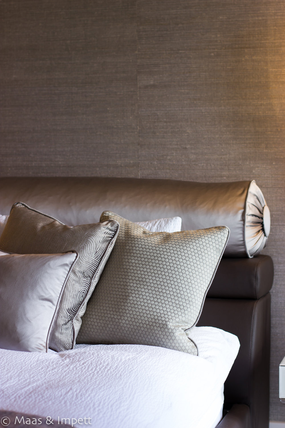 Bedroom upholstery, Hampshire based interior designers, Maas & Impett
