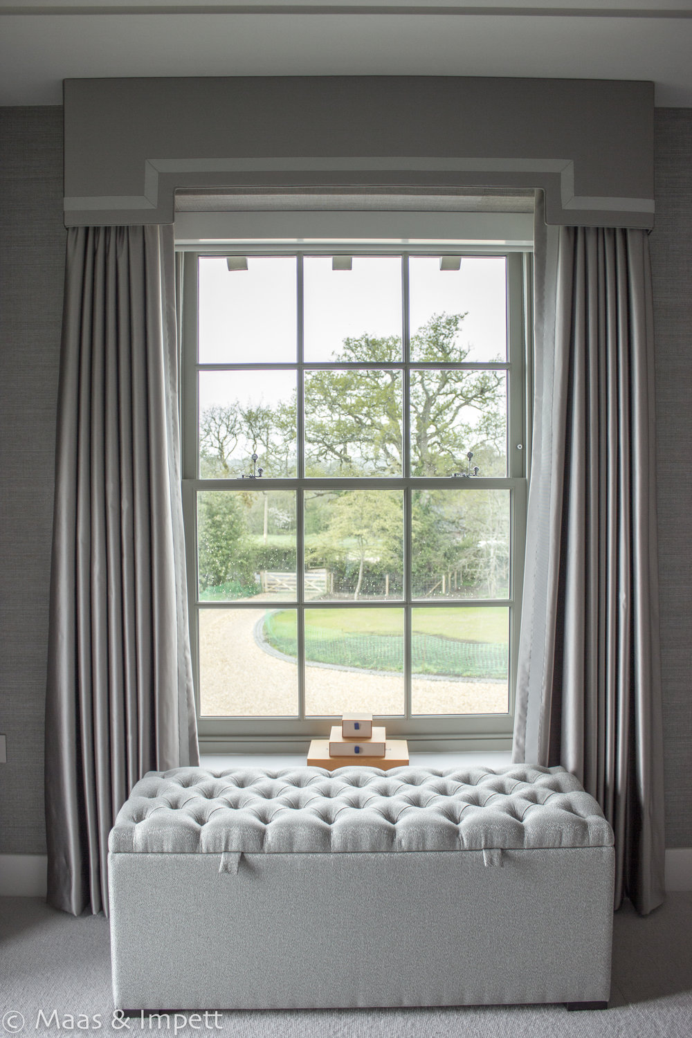 Bespoke Curtains, interior designers Maas & Impett in Hampshire