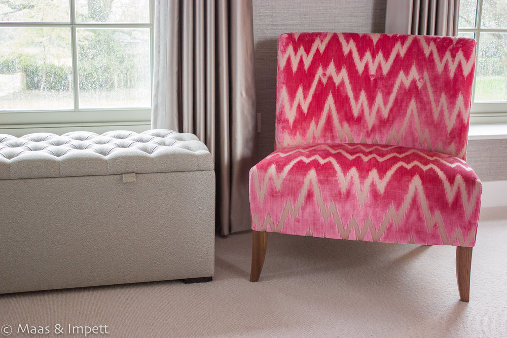 Upholstered chair by Maas & Impett