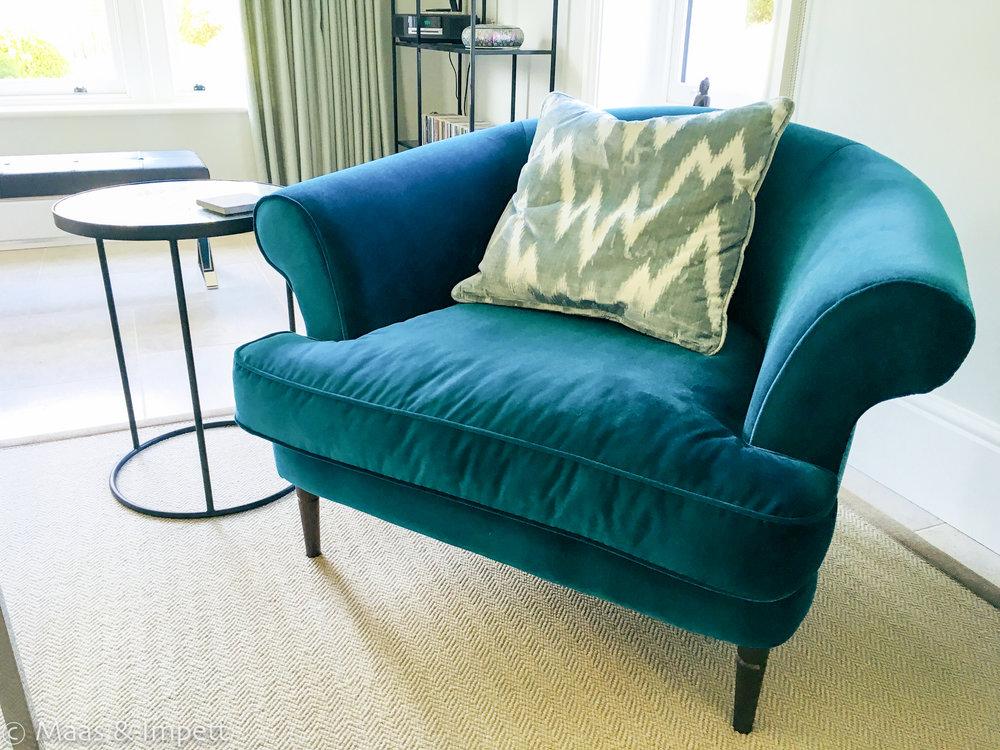 Upholstery by interior designer Maas & Impett