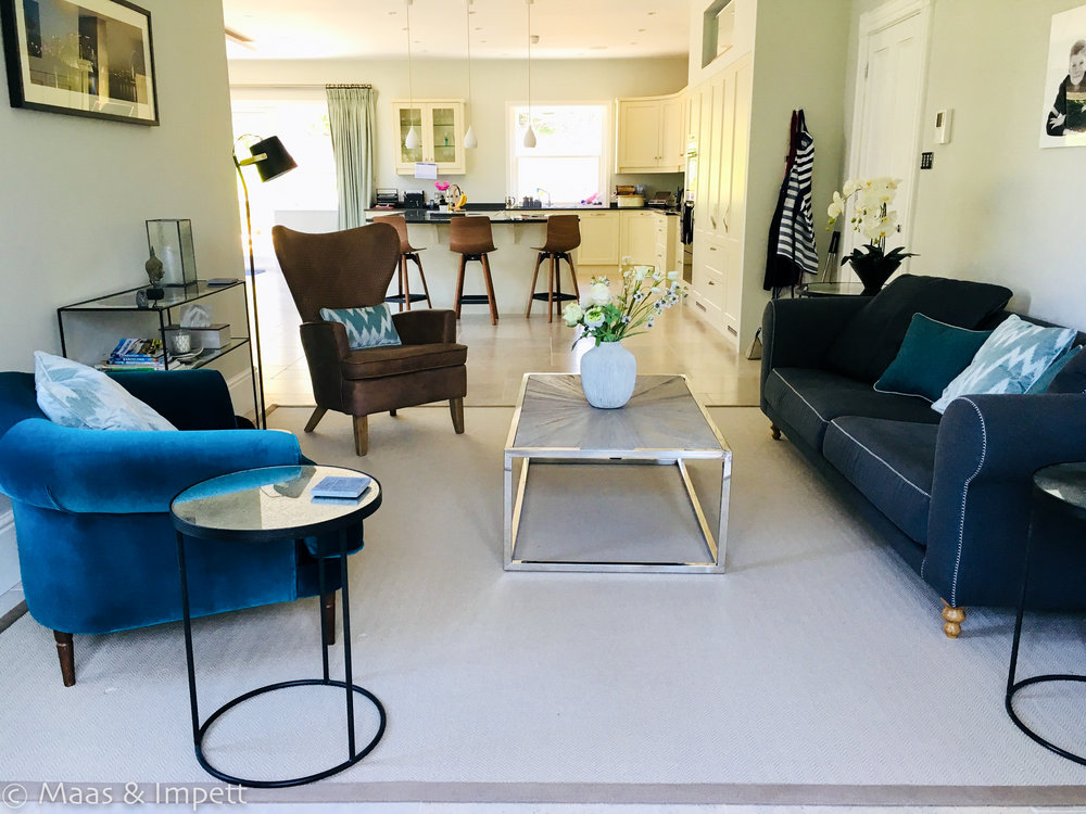 Open plan living, Maas & Impett, Interior designers, Hampshire