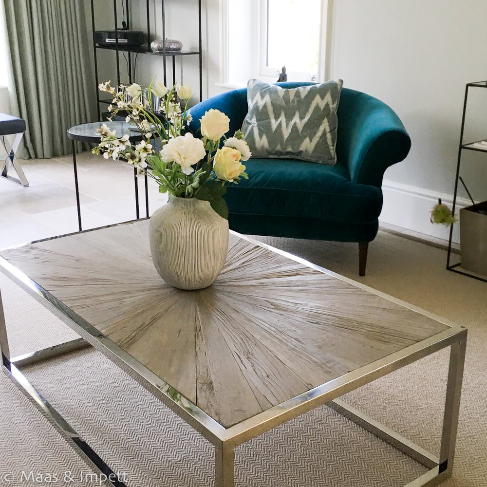 Furniture sourced by Interior designers, Maas & Impett, Hampshire