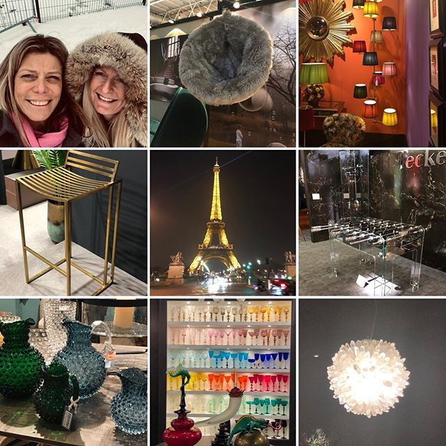 A few favourite pics from Paris. #maisonetobjet2019 #interiordesignheaven #hoteljobo #clignancourt #parisinthesnow #greatclients #loveourjob