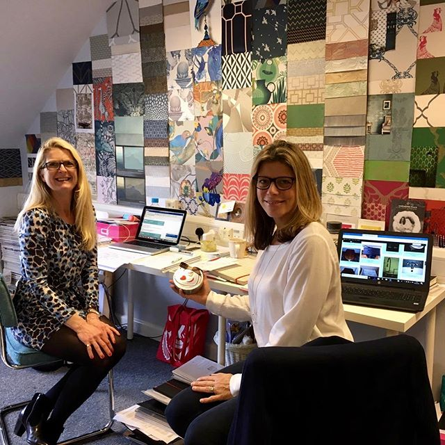 Busy week in the office at M&I headquarters!  Lots of suppliers with their new designs and successful client meetings to complete it.  Photo by @debbie_pjlondon.  Have a great weekend.  #hampshireinteriordesign #interiordesignnewforest #maasandimpett #inspirationwall #workingwomen