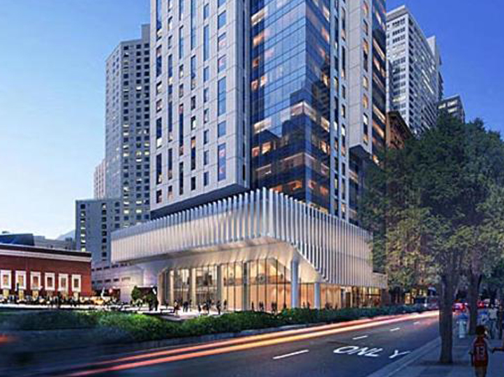 The 706 Mission Street luxury condo tower and Mexican Museum is a 47-story tower that will change the landscape of the South of Market District in San Francisco.