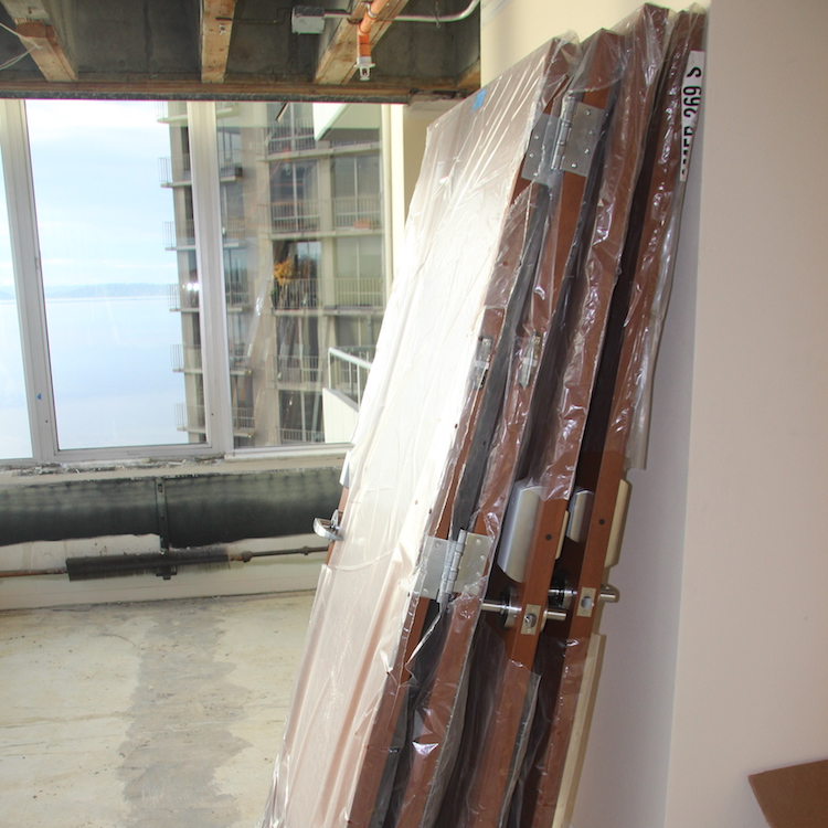 2. The locks were then shipped to the American Direct Regional Service Center in Tacoma, WA, where they were installed on the doors.