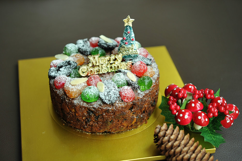 Rum Infused rich fruitcake