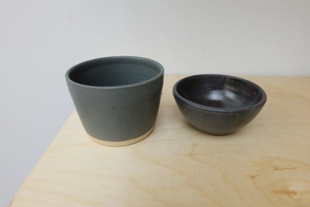The glaze samples are made to see the level of sheen, the glaze's stability across multiple firings and the colors.