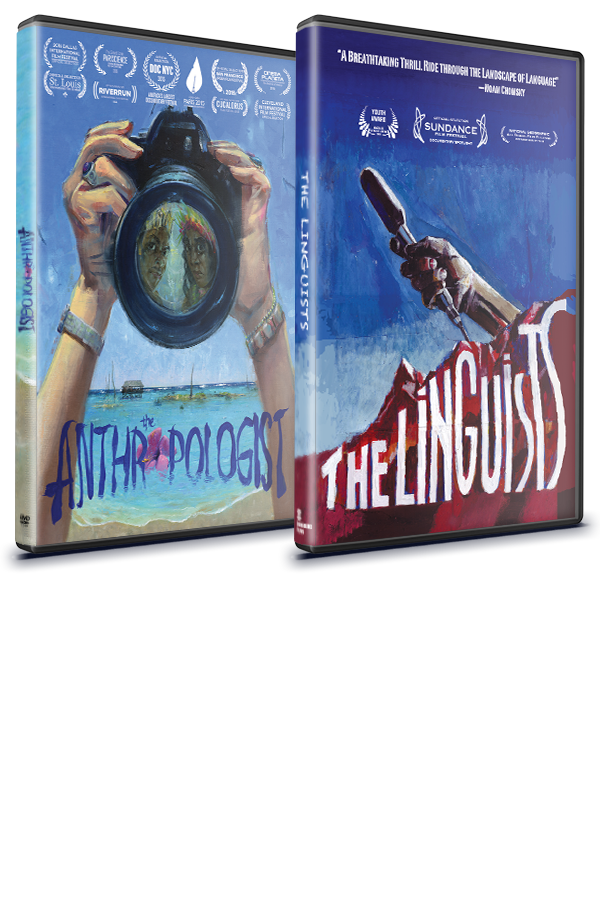 THE ANTHROPOLOGIST + THE LINGUISTS DVD COMBO PACK  FOR EDUCATIONAL USE  $500
