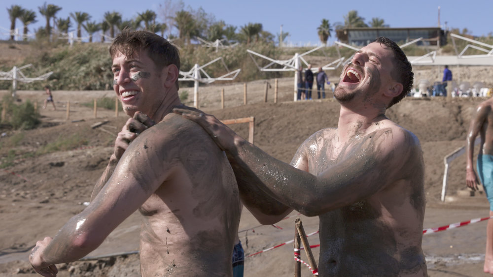 Heading Home still 3, Jon Moscot (left) and Ryan Lavarnway at Dead Sea, Ironbound Films, Inc..jpg