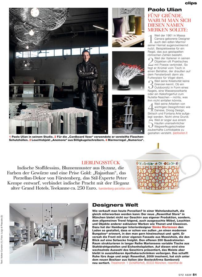 Paolo Ulian In Architektur U0026 Wohnen Magazine