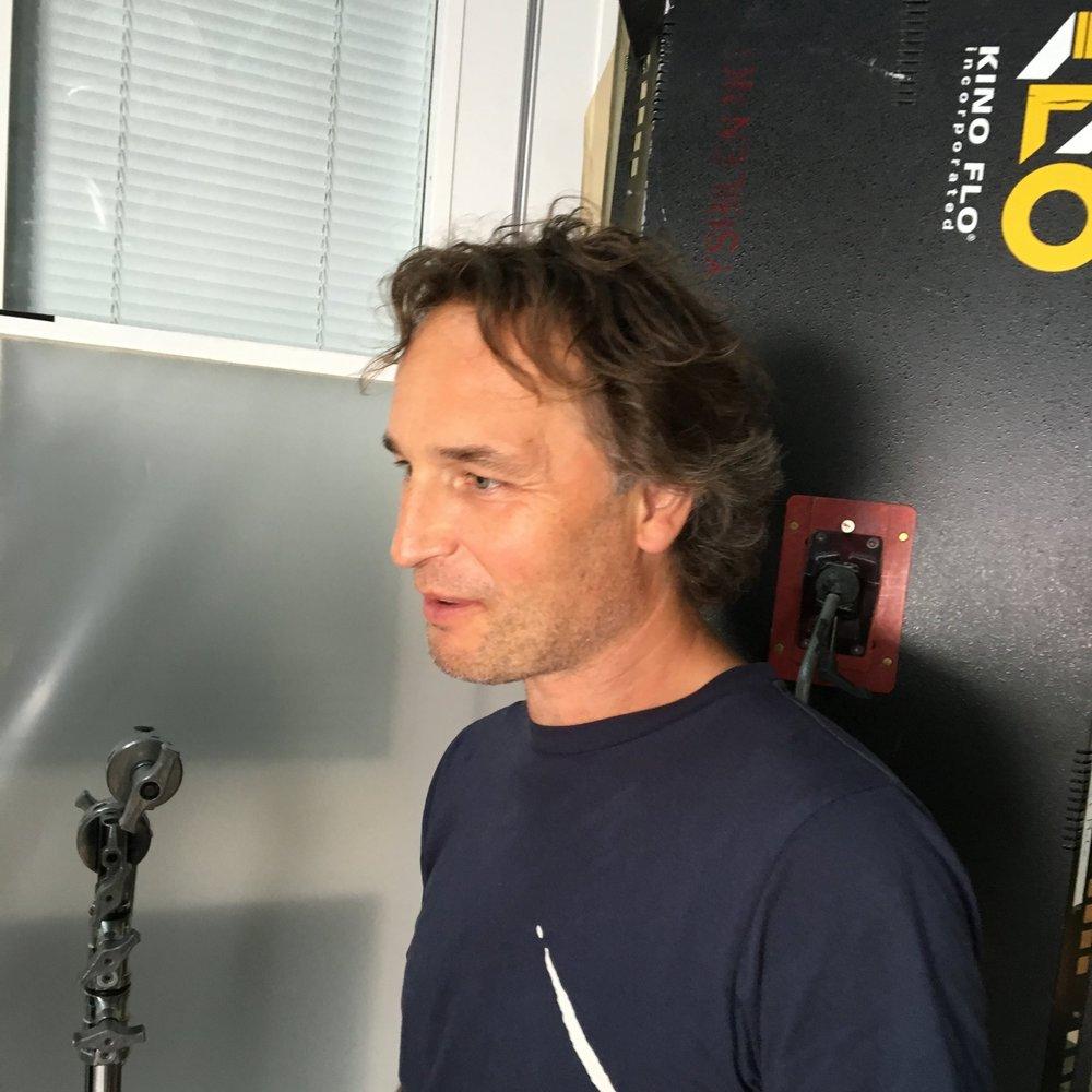 Med Morten Foss på filmopptak