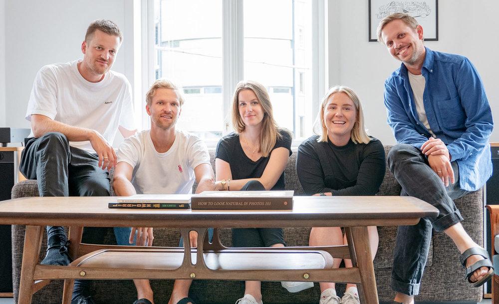F.v: Simen, Bård, Sissel, Hanne-Regine og Markus i BRUNCH Oslo.
