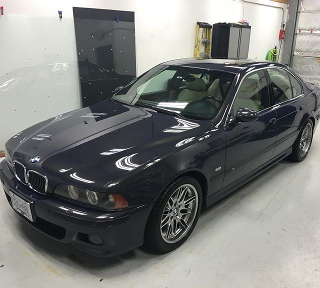 03 BMW M5 Personal in for yearly visit to get light correction and CQuartz Classic coating. We've cleaned this car weekly since it was new! #autowerkesexclusive #autodetailing #detailersofinstagram #vancouver #mapleridge #bmw #m5 #carpro #carprous #cquartz