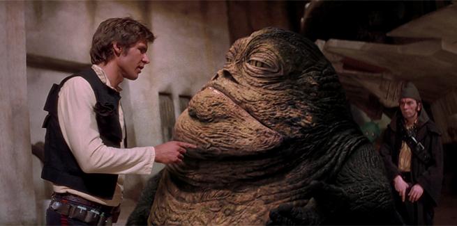 La homo estas Han Solo Jabba ne estas homo